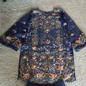 Dresses & Skirts - Blue shilwar kameez